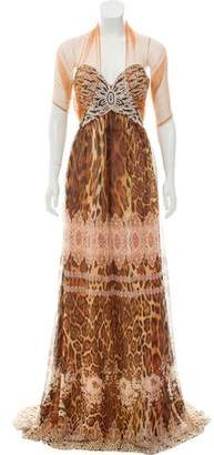 Jovani Embellished Leopard Printed Dress w/ Tags