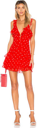 For Love & Lemons Analisa Polka Dot Tank Dress