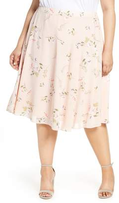 Rachel Roy Collection Floral Draped Skirt
