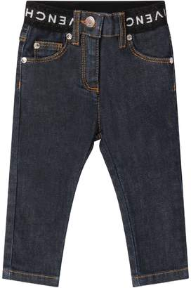 Givenchy Denim Babygirl Jeans With White Logo