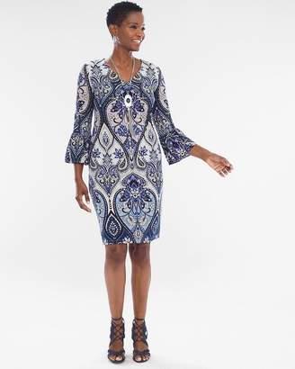 V-Neck Paisley Dress