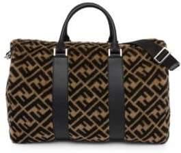 Fendi Shearling Logo Duffle Bag