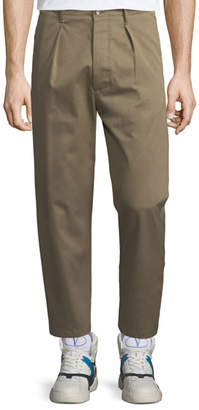 Valentino Pleated-Front Gabardine Chino Trousers