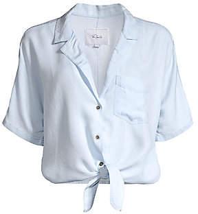 Rails Women's Holly Tie Shirt Crop Top
