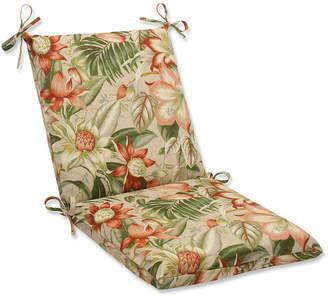 Pillow Perfect Botanical Glow Tiger Stripe Squared Corners Chair Cushion