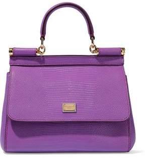 60096c1d94f1 Dolce   Gabbana Sicily Lizard-effect Leather Shoulder Bag
