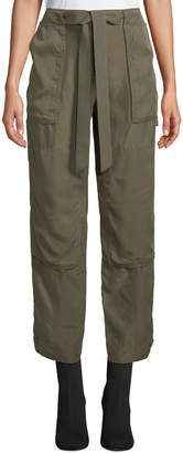 Rag & Bone Henri Belted Silk Cargo Pants