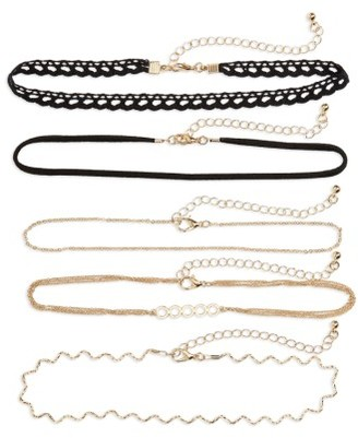Women's Bp. 5-Pack Chokers $25 thestylecure.com