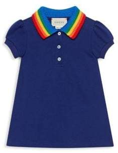 Gucci Baby's Rainbow Butterfly Polo Dress