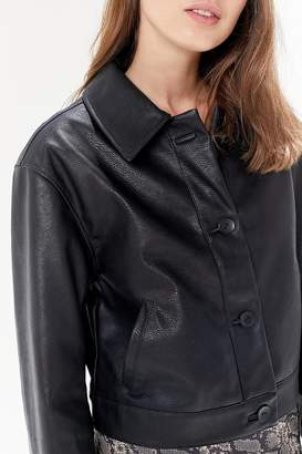 Urban Outfitters Faux Leather Button-Front Jacket