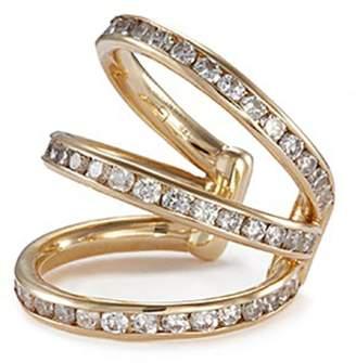 Trilogy Lynn Ban 'Trilogy' diamond 14k yellow gold single ear cuff