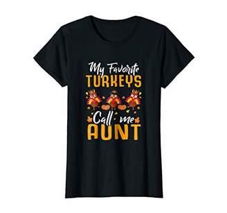 DAY Birger et Mikkelsen Womens My Favorites Turkeys Call Me Aunt Thanksgiving T-Shirt