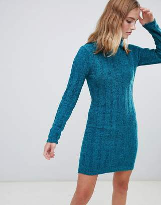 Brave Soul Perrie Roll Neck Jumper Dress