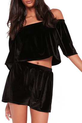 Missguided Off-the-Shoulder Cropped Blouse $46 thestylecure.com