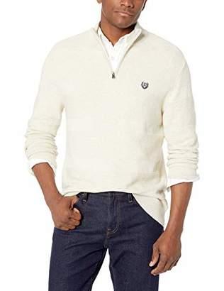 Chaps Men's Classic Fit Textured Quarter Zip Sweater