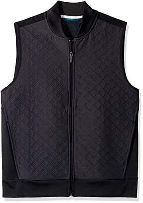 Perry Ellis Men's Quilted Zip-Front Vest