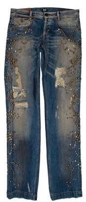Dolce & Gabbana Embellished Slim Jeans