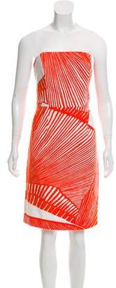 Milly Strapless Printed Dress