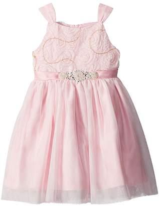 Us Angels Soutache Bodice w/ Tulle Skirt Girl's Dress