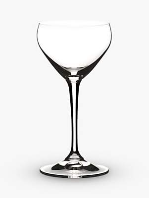 Riedel Bar Cut Crystal Glass Nick & Nora Cocktail Glasses, Set of 2, 140ml