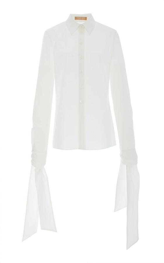 Michael Kors Collection Streamer Sleeve Classic Shirt
