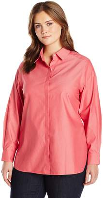 Foxcroft Women's Plus Size Long Sleeve Vanessa Non Iron Tunic