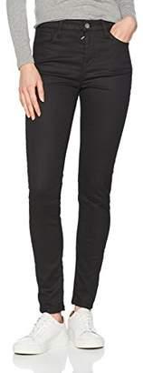 Benetton Women's Raw Denim Jeans Skinny (Black 700), W28/L32 (Size: 28)