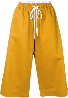 Marni drawstring cropped trousers