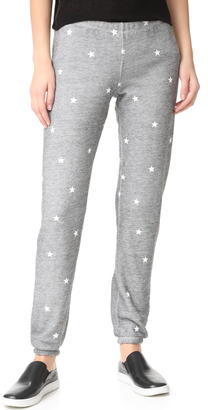 Wildfox Football Star Burnout Fleece Sweats $108 thestylecure.com