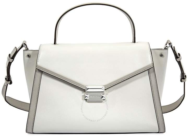 Michael Kors Whitney Large Leather Satchel- Alumin/ Pearl Grey - ONE COLOR - STYLE