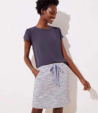 LOFT Petite Boucle Jogger Skirt
