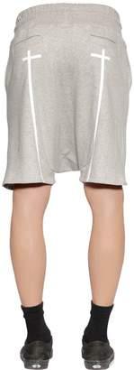 RtA Logo Cross Printed Sweat Shorts