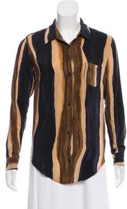 Rebecca Minkoff Stripe-Accented Silk Top