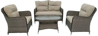 LG Electronics Outdoor Marseille 4 Seater Garden Table / Chairs Lounging Set, Natural