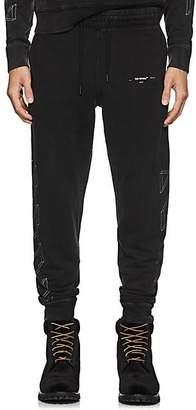 Off-White Men's 3D-Striped Cotton Jogger Pants - Black