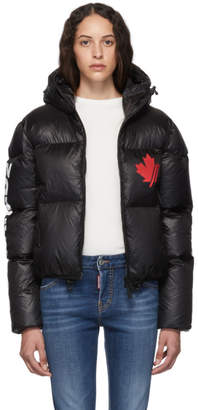 DSQUARED2 Black Nylon Hooded Puffer Jacket