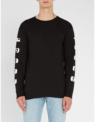 Obey Scene Missing printed cotton-jersey top