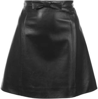 Miu Miu a-line leather mini skirt