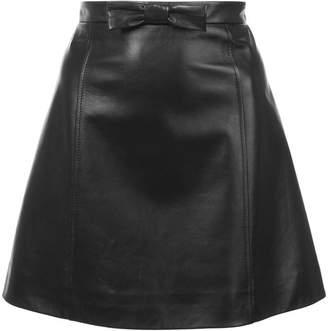 Miu Miu a-line leather mini skirt