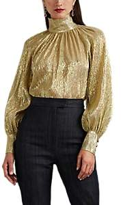 Martin Grant Women's Silk-Blend Lamé Blouse - Gold