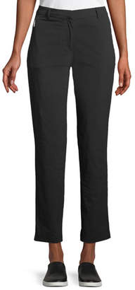 Anatomie Thea Straight-Leg Ankle-Length Pants w/ Side Zip Pockets