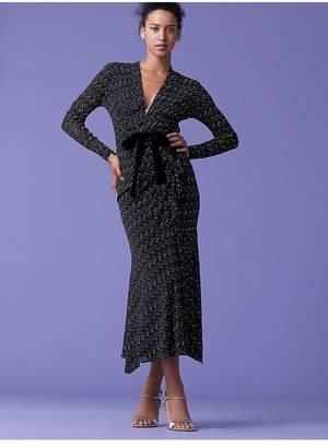 Diane von Furstenberg Crystal Front Tie Dress