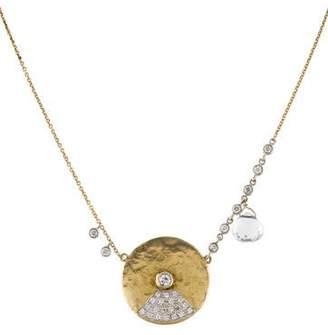 Meira T 14K Diamond & Topaz Charm Pendant Necklace