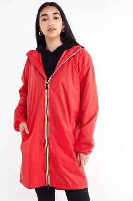 K-Way Le Vrai Eiffel Longline Zip-Front Jacket