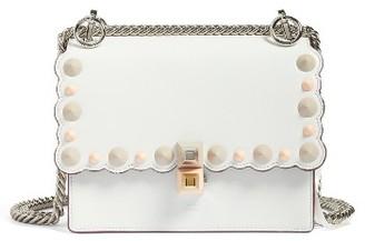 Fendi Small Kan I Scallop Leather Shoulder Bag - White $1,950 thestylecure.com
