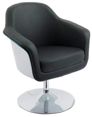 CorLiving Modern Bonded Leather Accent Chair