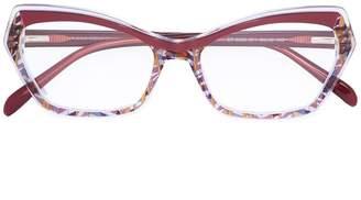Emilio Pucci cat eye shaped glasses
