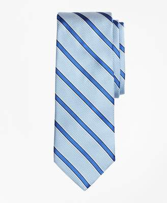 Brooks Brothers Textured Ground Framed Stripe Tie