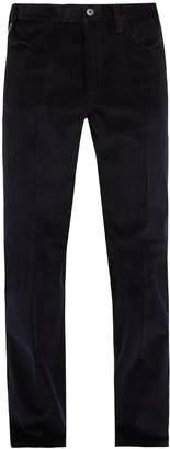 Prada Wide-leg cotton-corduroy trousers