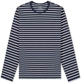 Save Khaki Long Sleeve Marine Stripe Crew Tee